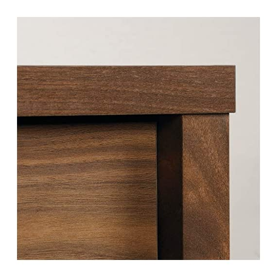 """Sauder Harvey Park TV Stand, For TV's up to 50"""", Grand Walnut finish - Accommodates up to a 50"""" TV weighing 70 lbs. or less for optimal viewing Sliding panel conceals cubbyhole storage to keep your clutter hidden Two adjustable shelves for flexible storage options - tv-stands, living-room-furniture, living-room - 51X%2BJ7zPkML. SS570  -"""