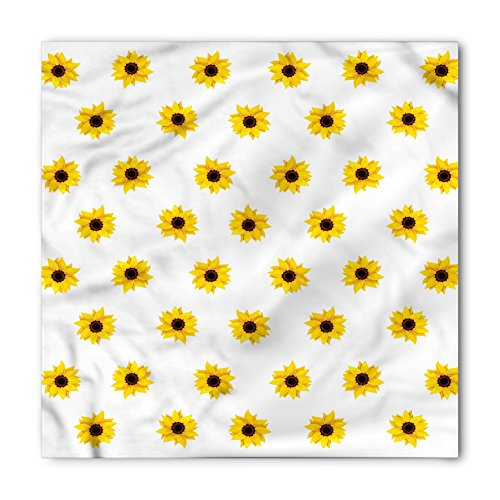 (Ambesonne Unisex Bandana, Sunflower Sunflower Pattern Nature, Yellow)