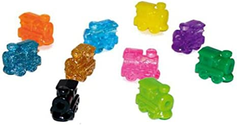 Set Of 10 Toy Play Chh Train Marker Accessory Activity Assorted Color Dominoes