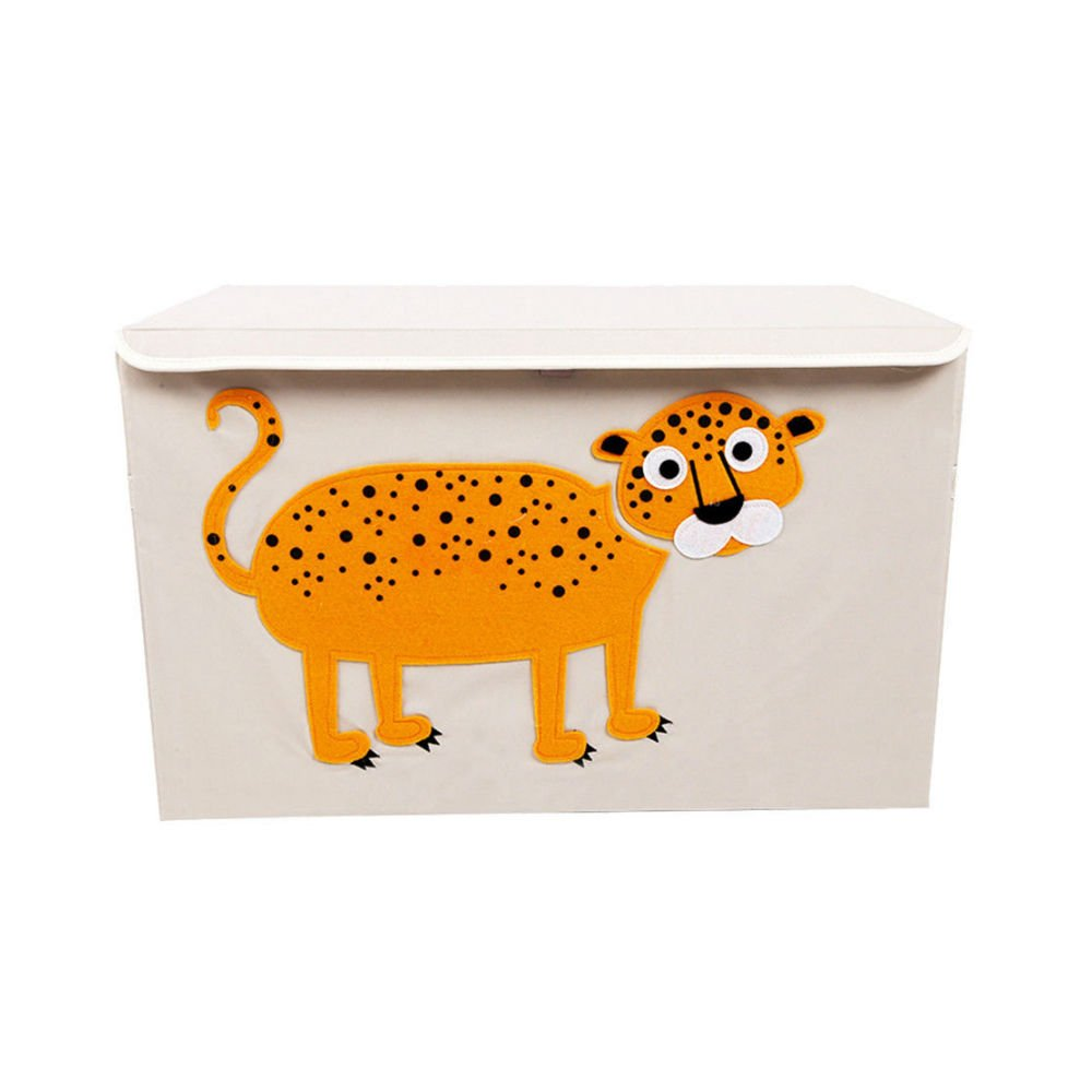 LEOPARD Toy Chest Collapsible Box Storage Kids Organizer Bedroom Bin Trunk Playroom New