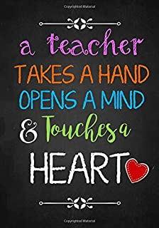Teacher notebook an awesome teacher is journal or planner for teacher gift a teacher takes a hand inspirational notebook or journal perfect year negle Image collections