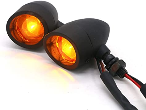 4Pcs Bullet Motorcycle Turn Signal Indicator Lamp Bulb amber 12V Blinker Light
