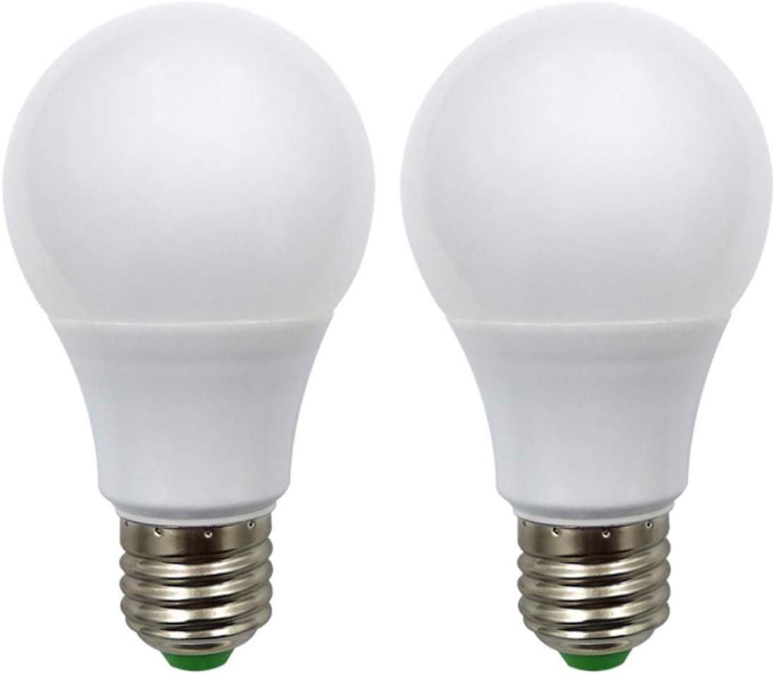 Bombilla LED E27 12 V AC/DC 5 W (A60 50 W bombillas halógenas) bajo voltaje Edison Screw en bombillas blanco cálido para Off Grid iluminación solar RV barco iluminación interior, 2 unidades [MEHRWEG]