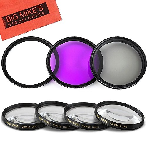 - 46mm 7PC Filter Set for Panasonic Lumix DMC-G7 DSLM Mirrorless 4K Camera with 14-42mm Lens Kit - Includes 3 PC Filter Kit (UV-CPL-FLD) and 4PC Close Up Filter Set (+1+2+4+10)