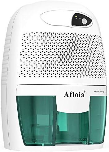 Afloia Portable Dehumidifier for Bathroom,1500 Cubic Feet Electic Mini Home dehumidifier for Home Deshumidificador Dehumidifier for Bathroom Baby Room Space Bedroom RV Basement Caravan Office Garage