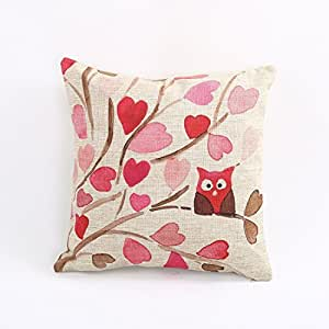 Pillowcases Branch owl love 18x18(inches)