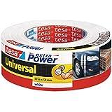 Tesa Extra Power Universeel Reparatietape, 50 m x 50 mm, Wit