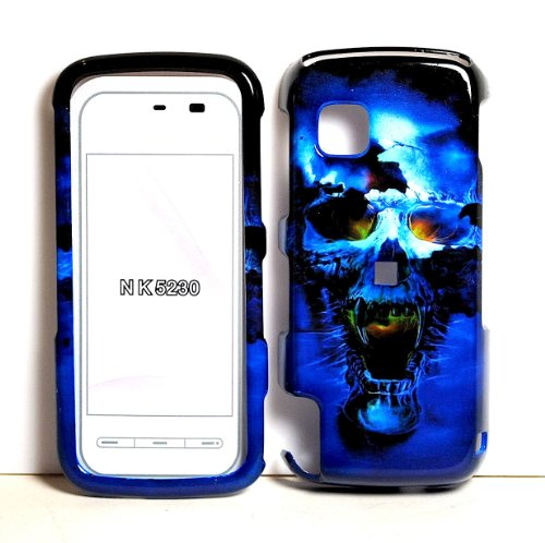 Learn More About Blue Vampire Skull Snap on Hard Skin Shell Protector Cover Case for NOKIA NURON 523...