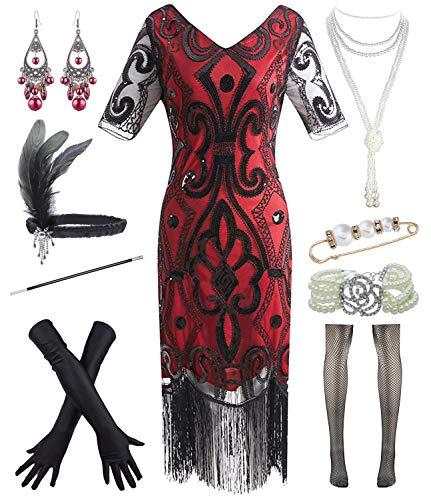 1920s Womens Wedding Dazzle Flapper Costume Gatsby