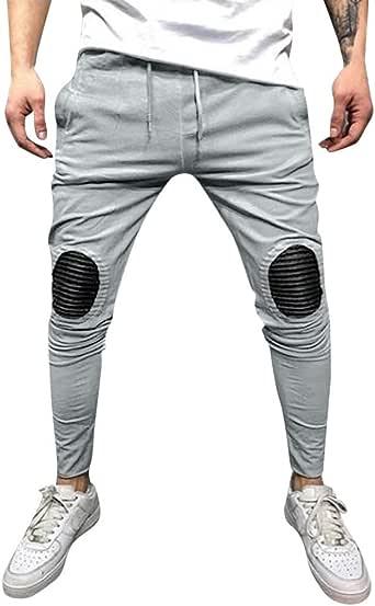 Pant Largos para Hombre de Rodilleras Trousers Deportivas ...