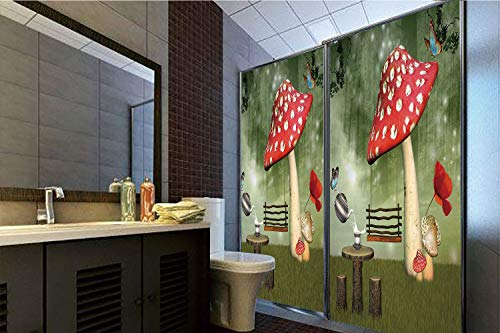 Used, Horrisophie dodo 3D Privacy Window Film No Glue,Mushroom,Picnic for sale  Delivered anywhere in USA