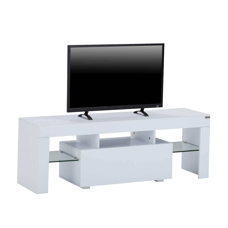 Amazon Com Walcut High Gloss White Led Tv Stand Media Console