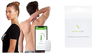 Upright GO Original | Posture Trainer and Corrector for Back | Back Health Benefits and Confidence Builder & GO | Smart Wearable Posture Trainer, Adhesive Replacement Pack, 10 Count