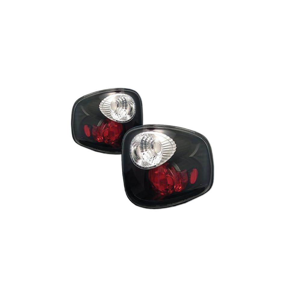 Ford F150 Flareside 97 98 99 00 01 02 03 Altezza Tail Lights + Hi Power White LED Backup Lights   Black (Pair)