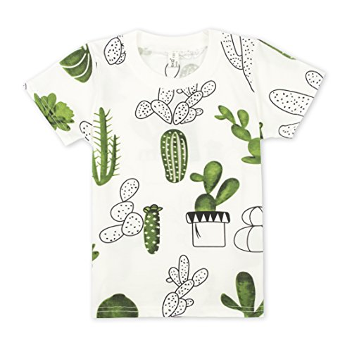 Cielarko Unisex-child Cactus Cotton T-Shirt for 2-8 Years (4-5 Years) (Cl Cotton)
