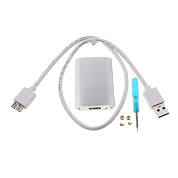 Gazechimp Carcasa del Disco Duro Externo Mini USB 3.0 A 2242 NGFF ...