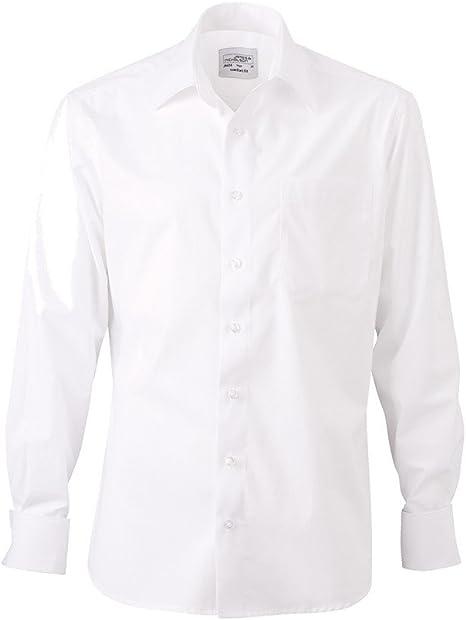 Camisa para hombre gemelos francesa, color blanco, tamaño L: Amazon.es: Deportes y aire libre