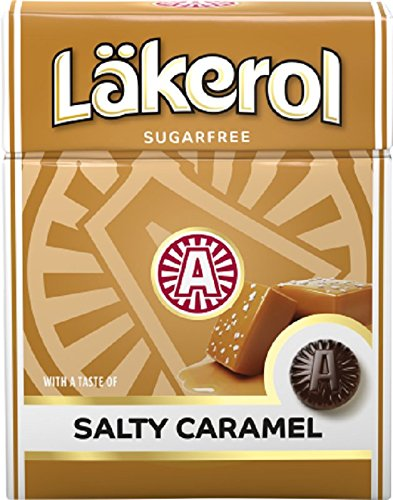4 Boxes X 25g of Lkerol Salty Caramel Stevia Original Swedish Sugar Free Liquorice Pastilles Lozenges Drops Dragees Candy Sweets