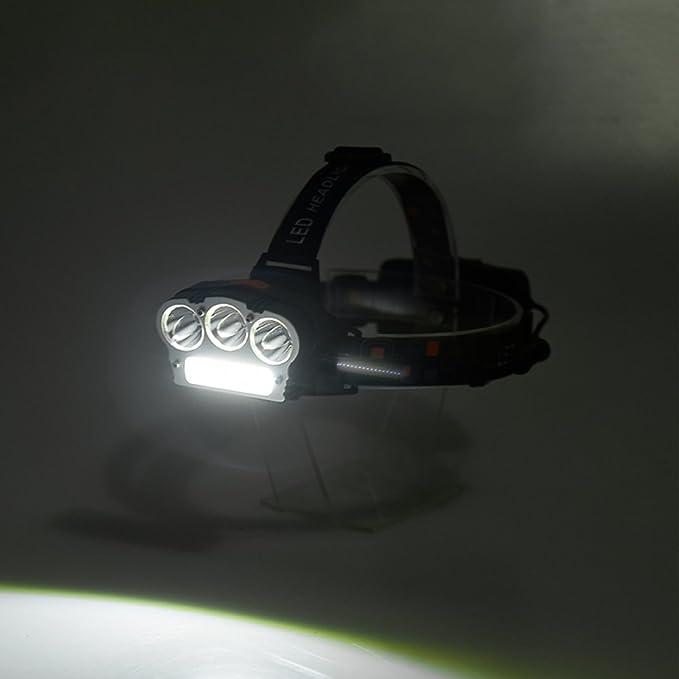 Amazon.com: Amyove Faro de Pesca, Lámpara de Camping para Actividades al aire Libre, Carga por USB T6 + COB LED Luz Fuerte(Luz Roja y Blanca): Home & ...