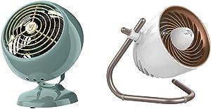 Vornado VFAN Mini Classic Personal Vintage Air Circulator Fan, Green & Pivot Personal Air Circulator Fan, Copper
