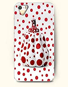 iPhone 5/5S Case, SevenArc Phone Cover Series for Apple iPhone 5 5S Case (DOESN'T FIT iPhone 5C)-- Red Dots And Pumpkin...