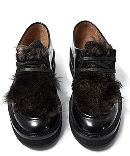 Paul Smith Womens Black Calf Leather And Shearling size 4