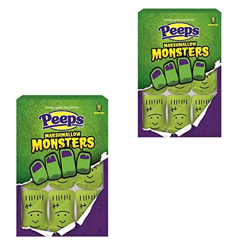 Halloween Candy Exclusive! Peeps Marshmallow Monsters! Delicious, Soft, And Chewy! (2 Pack) -
