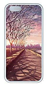iPhone 5 5S Case landscapes nature road 70 TPU Custom iPhone 5 5S Case Cover White