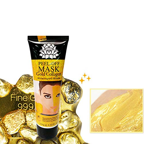 24K Gold Collagen Mask Face Peel Off Mask Cream Anti Wrinkle Aging Whitening Skin Care Face Firming Acne Treatment Oil Control