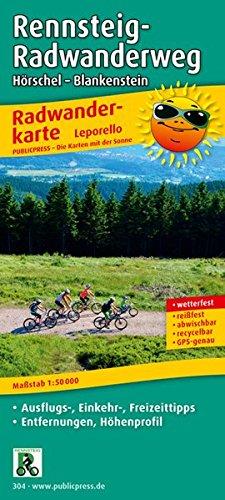 Rennsteig-Radwanderweg, Hörschel - Blankenstein: Leporello Radtourenkarte mit Ausflugszielen, Einkehr- und Freizeittipps, reissfest, wetterfest, ... 1:50000 (Leporello Radtourenkarte / LEP-RK)