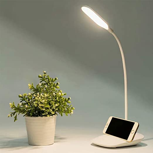 Lampada da Tavolo A LED 4 Blocchi Dimmer//Lampada da Tavolo A LED Portatile//Dimmerabile Lampada da Tavolo Piccola con Touch Control//Ricarica Wireless per Smartphone