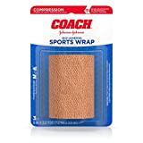 Johnson & Johnson Coach Self-Adhering Elastic Sports Bandage for Knees, Thighs & Ribs, 3 In By 2.2 Yd