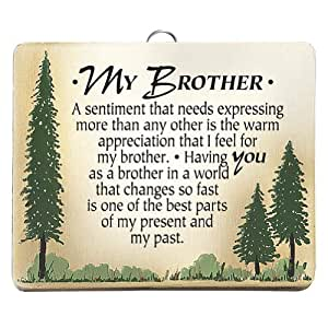 My Brother Plaque - Wood Wall Hanging Family Love and Appreciation Item