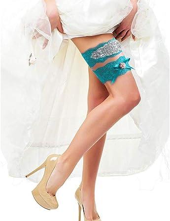 Black or Hot Pink Tulle /& Rhinestone Garter Bridal Garter Prom Aqua