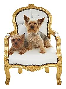 Handmade White Vinyl White Accent Chair For Kids or Pets Photo Props, Accent Furniture, And Etc.
