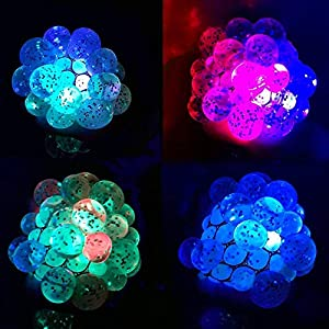 New Set of 2 Led Anti Stress Ball - Squishy Light up Ball - Anti Stress Toys for Kids - Mesh Stress Ball - Grape Ball - DNA Ball - Prime Slime Stress Ball - ADHD Fidget Toys - Net Stress Squishy Ball.