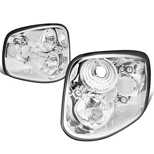 - DNA Motoring CLOSE-TLC-F150-0103-F2 Altezza Style Tail Lights Chrome [For 97-04 Ford F150 Flareside]