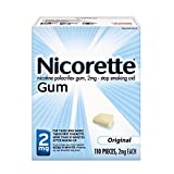 Nicorette Nicotine Gum Original 2 milligram Stop Smoking Aid 110 count