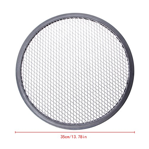 Round Pizza Screens - Milue Aluminum Mesh Grill Pizza Screen Round Baking Tray Net Kitchen Tools Ovens Kit (14#)
