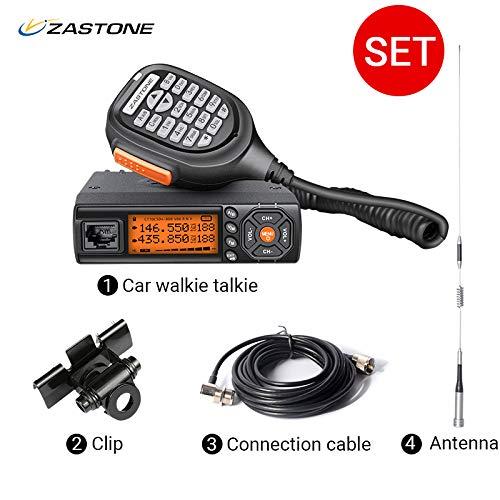 Zastone Mini Mobile Radio 128-Channel 25W UHF/VHF 136-174/400-480MHz Dual Band