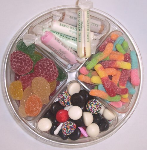 Scott's Cakes 4-Pack Licorice Mix, Pectin Fruit Gels, Salt Water Taffy, & Sour Inch Worms