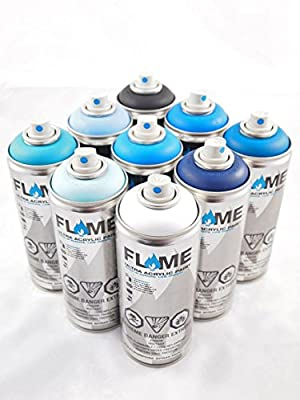 FLAME Diamond Packs - ABYSSAL BLUE (9 Cans)