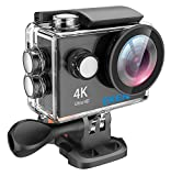 EKEN H9 4K Action Camera, Full HD Wifi Waterproof Sports Camera with 4K25/ 1080P60/ 720P120fps Video, 12MP Photo and 170 Wide-Angle Lens, includes 17 Mountings Kit, 2 Batteries (Silver)
