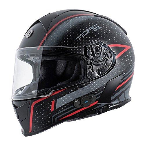 Torc T14B Blinc Loaded Scramble Mako Full Face Helmet (Flat Black with Graphic, XX-Large) ()
