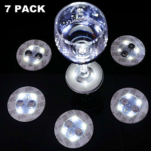 Bottle Light,LED Bottle Light,Bottle Glorifier,LED Sticker Coaster Discs Lights for Wine Bottle Clear Glass Cup Vase White Lights - Cup,Party,Wedding,Bar,Party Decoration 7 -