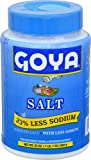 Goya Foods Salt 33% Less Sodium, 23 Ounce (Pack of 12)