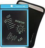 Boogie Board 8.5-Inch LCD Writing Tablet, Cyan Blue (PT01085CYAA0002) & Boogie Board Sleeve, Black (JSG310001) Bundle