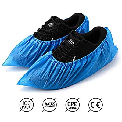 Disposable Shoe Covers -100 Pack(50 Pairs) Disposable Shoe & Boot Covers -Waterproof Slip Resistant Shoe Booties for Home Office: Home & Kitchen
