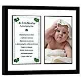 Poetry Gifts Baptism Gift - Irish Blessing Gift for Baptism for Girl or Boy in 8x10 Inch Black Frame – Add Photo