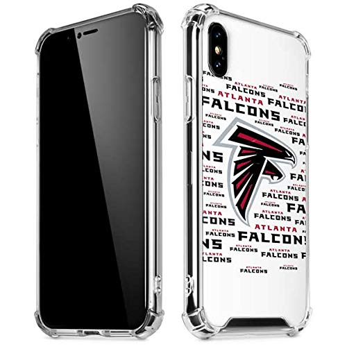- Skinit Atlanta Falcons White Blast iPhone XR Clear Case - Officially Licensed NFL Phone Case Clear - Transparent iPhone XR Cover
